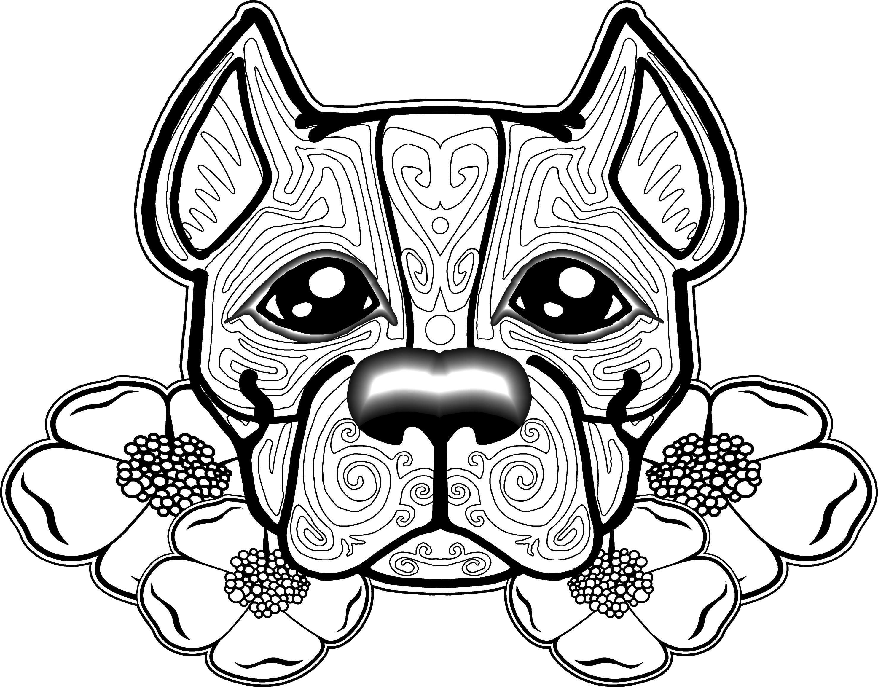 2961x2317 Dogs Coloring Pages New Free Printable Adult Coloring Pages