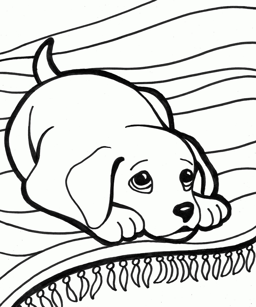 1000x1200 Free Dog Coloring Pages