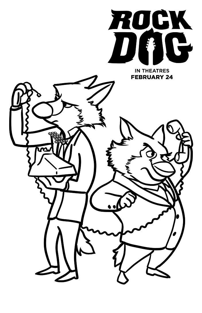 704x1088 Free Rock Dog Coloring Pages