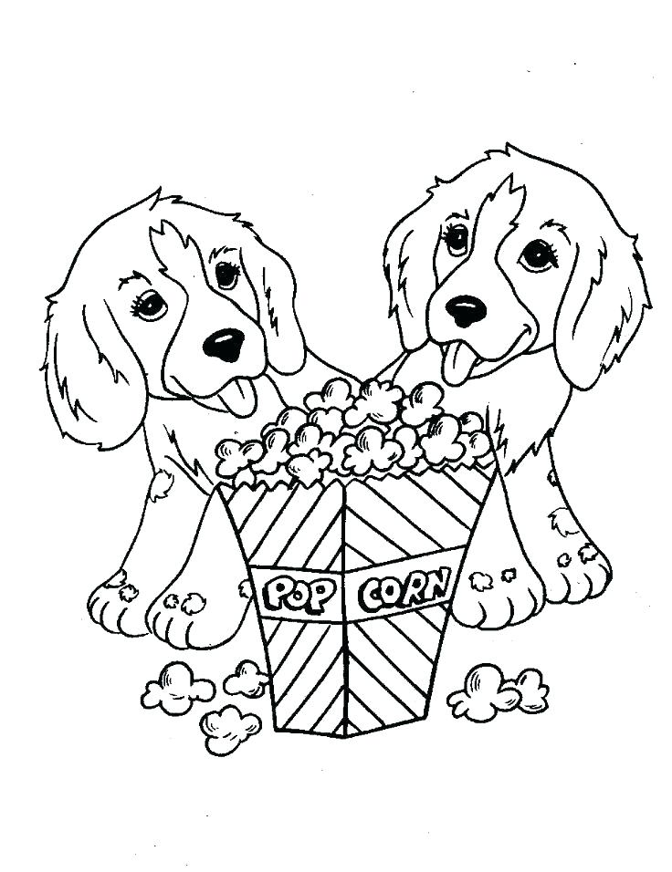 736x956 Cute Dogs Coloring Pages