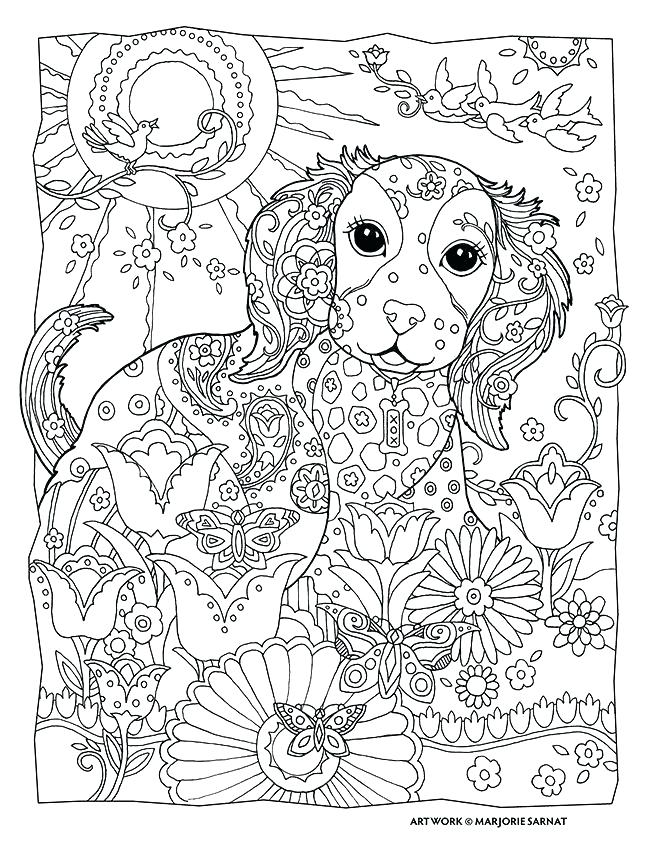 650x841 Coloring Pages To Print Dogs Free Printable Dog Adult Coloring