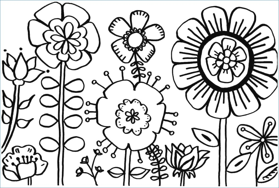 Pictures Of Flowers Coloring Pages