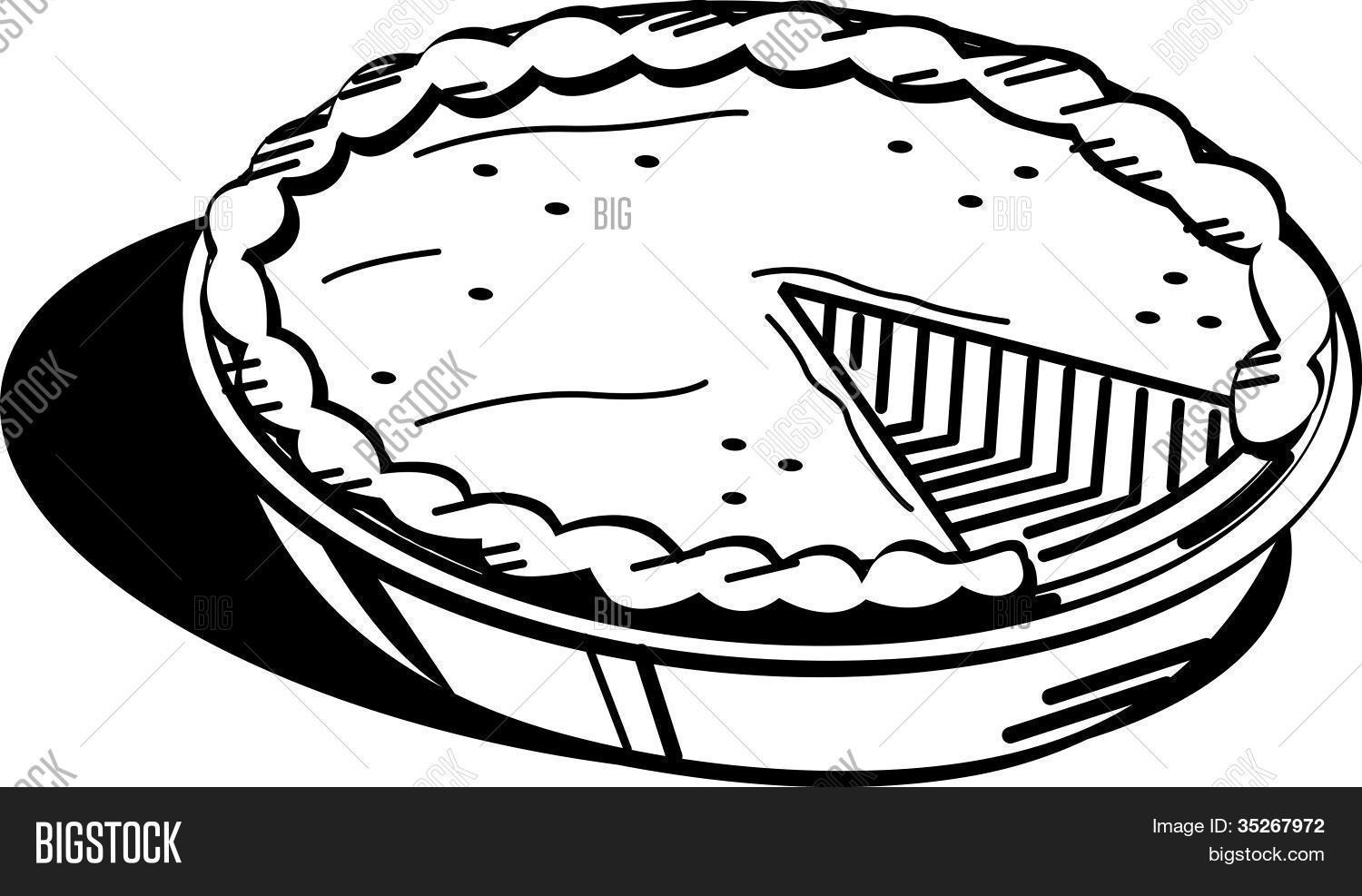 Pie Coloring Page at GetDrawings.com | Free for personal use Pie ...