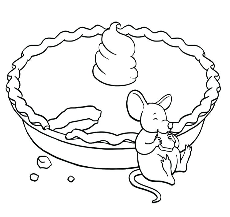 750x706 Pie Coloring Page Pie Coloring Page Slice Apple Pie Coloring Page