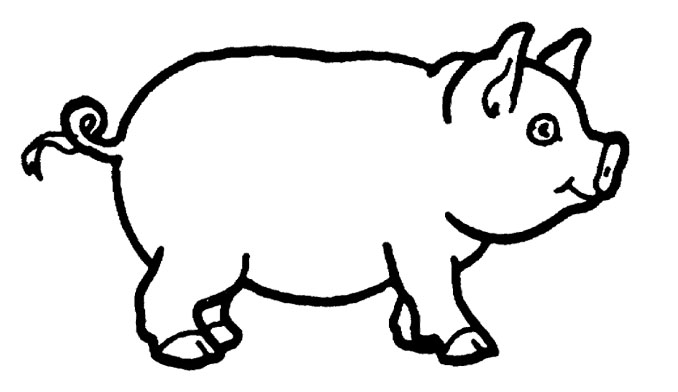 678x392 Cute Pig Coloring Pages