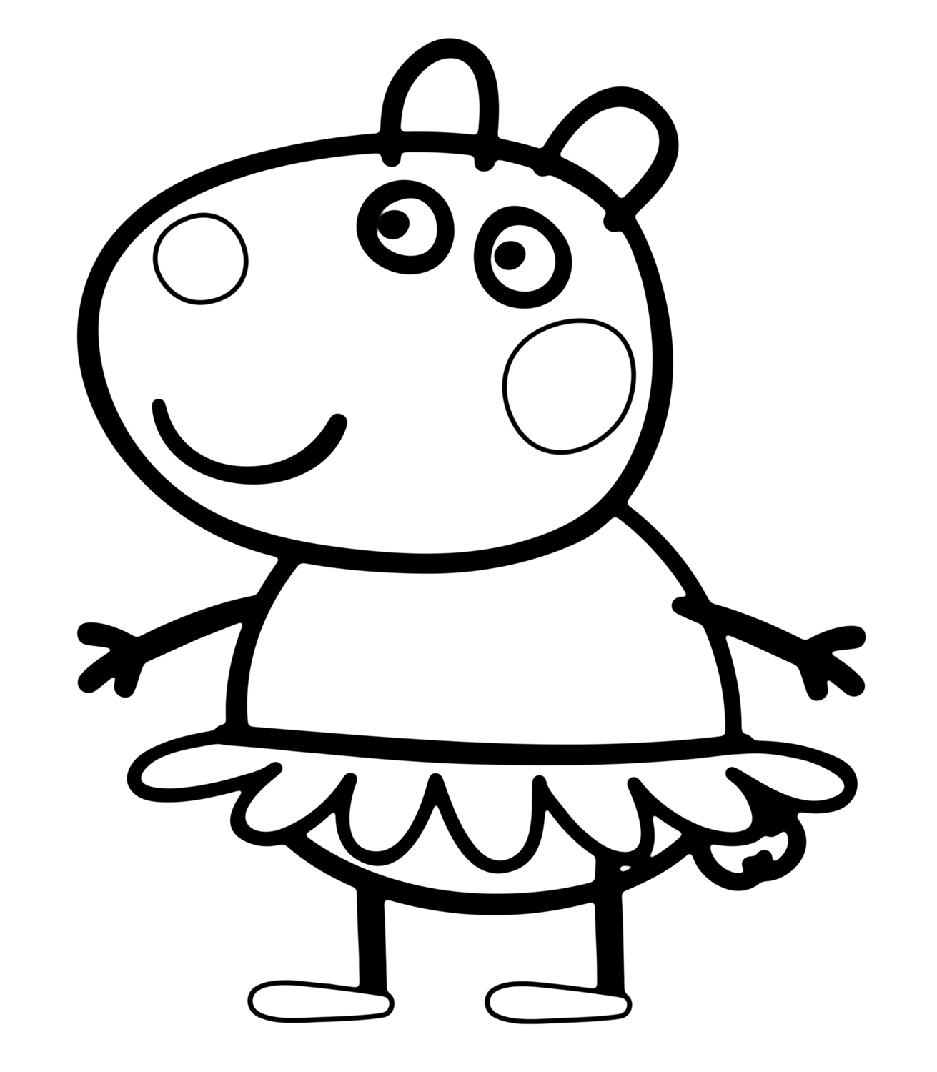 1311x1500 Printable Peppa Pig Coloring Pages You Won't Find Anywhere