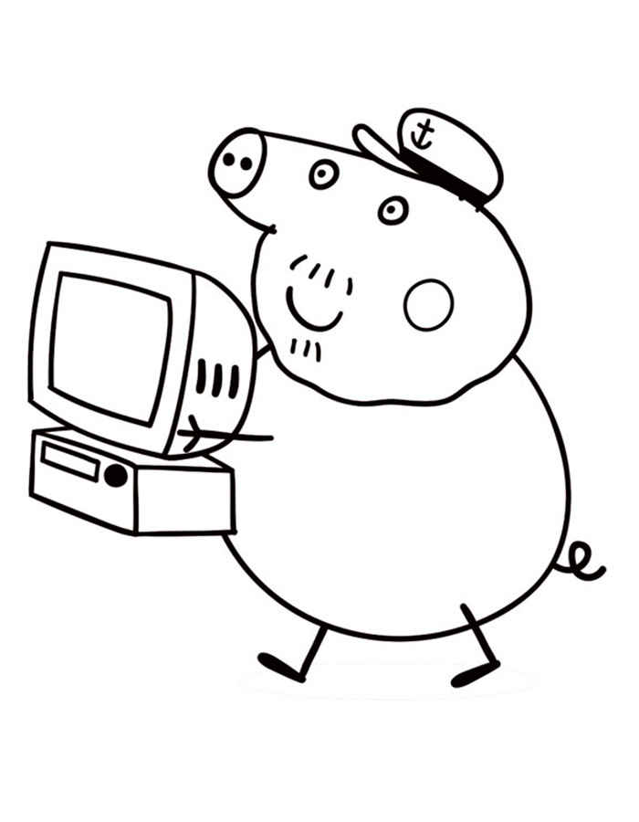 700x900 Peppa Pig Coloring Pages