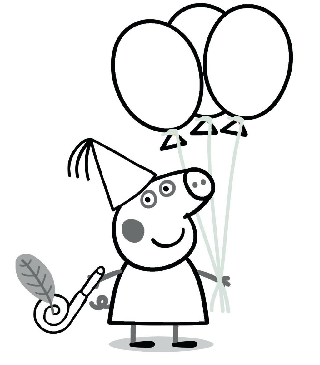 1024x1169 Coloring Pages Peppa Pig Coloring Page Drawing Templates Pages