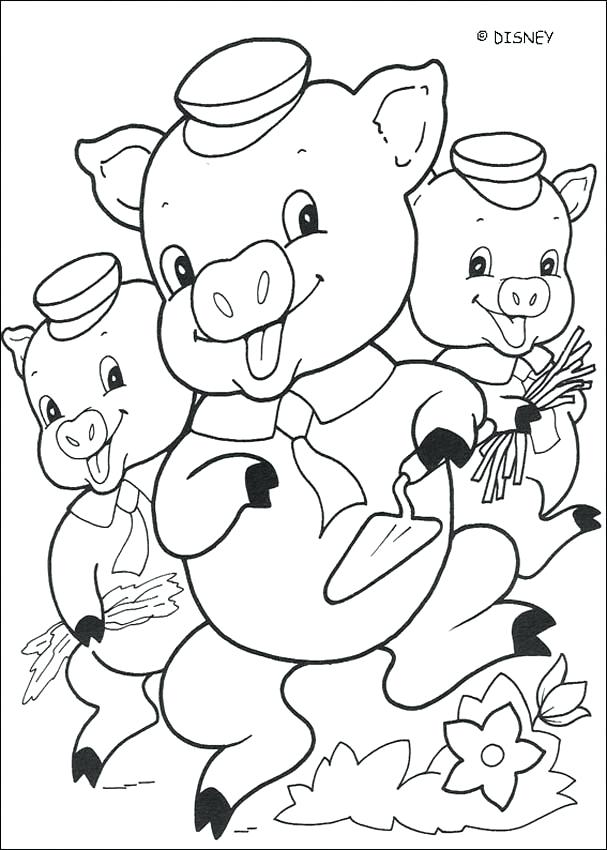 607x850 Coloring Pages Pigs House Building Pig Three Little Pigs Coloring