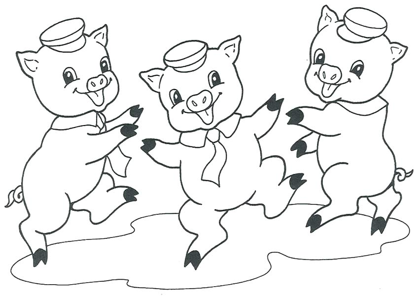 850x607 Cute Pig Coloring Pages Pig Coloring Pages Pig Coloring Pages