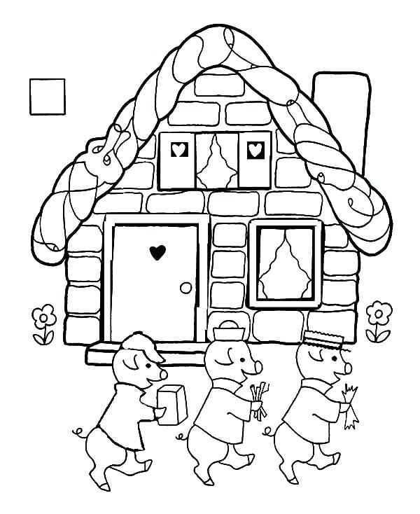 600x734 Pig Coloring Pages For Adults Three Little Pigs Pictures Sick