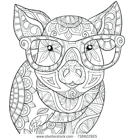 450x470 Beautiful Piggy Coloring Pages Best Of Pig For Kids Games Large