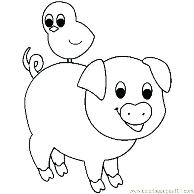 650x650 Pigs Coloring Pages Pig Coloring Page Peppa Pig Coloring Pages