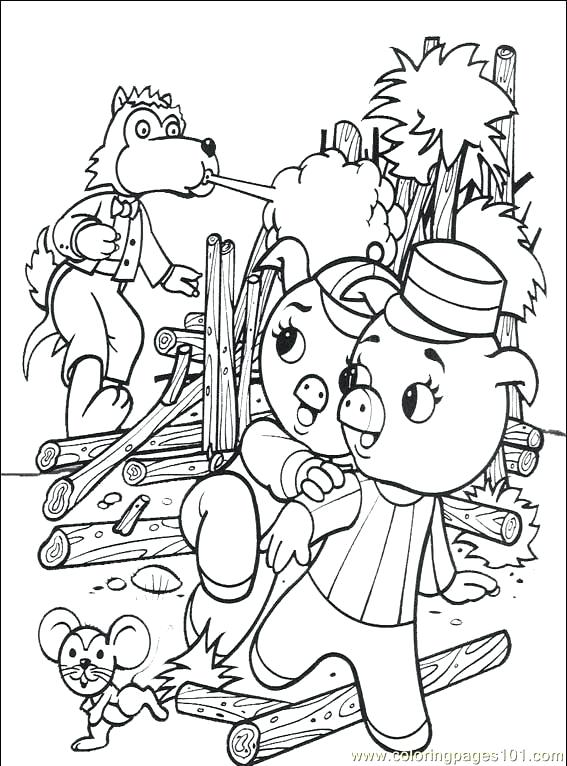 567x766 Three Little Pigs Coloring Pages The Three Little Pigs Coloring
