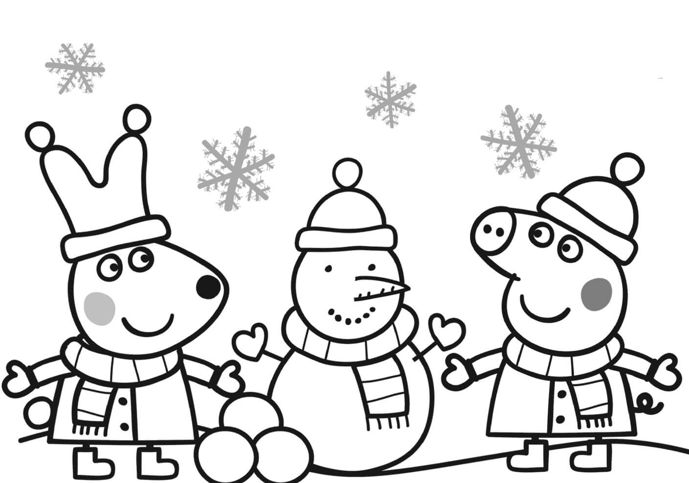 1409x989 Christmas Pig Coloring Pages To Print Coloring For Kids