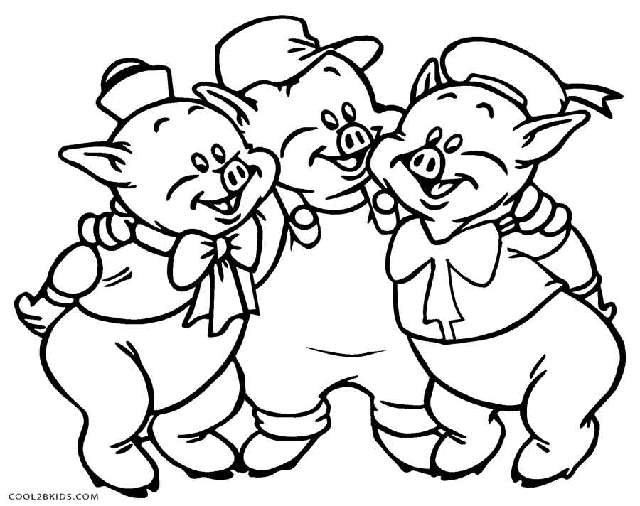 900x712 Free Printable Pig Coloring Pages For Kids