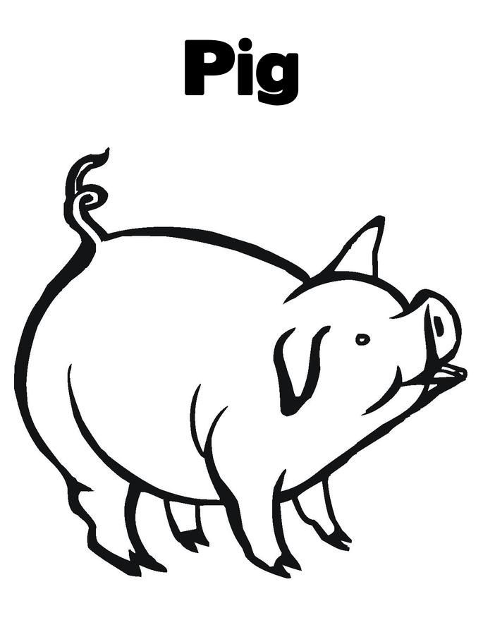 685x886 Free Printable Pig Coloring Pages For Kids Pig Images