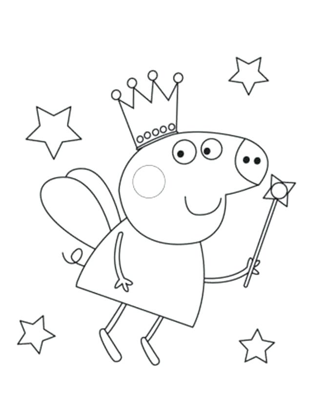 633x827 Peppa Pig Color Pages Coloring Pages Pig Coloring Pages To Print
