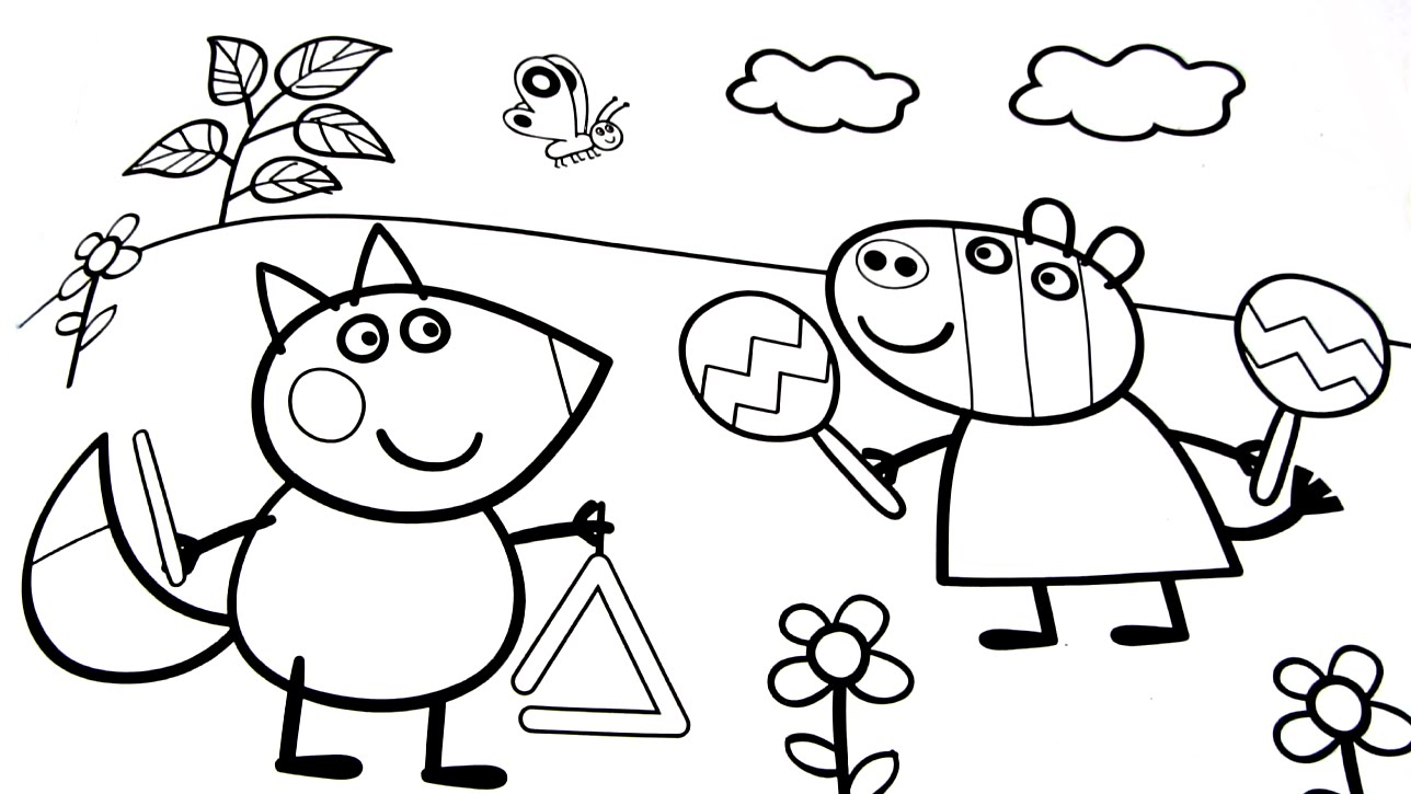1288x725 Peppa Pig Coloring Pages Coloring Book Peppa Pig Fun Art