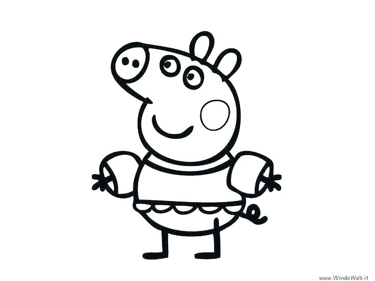 736x552 Coloring Page Of A Pig Pig Color Pages Pig Images To Print Pig