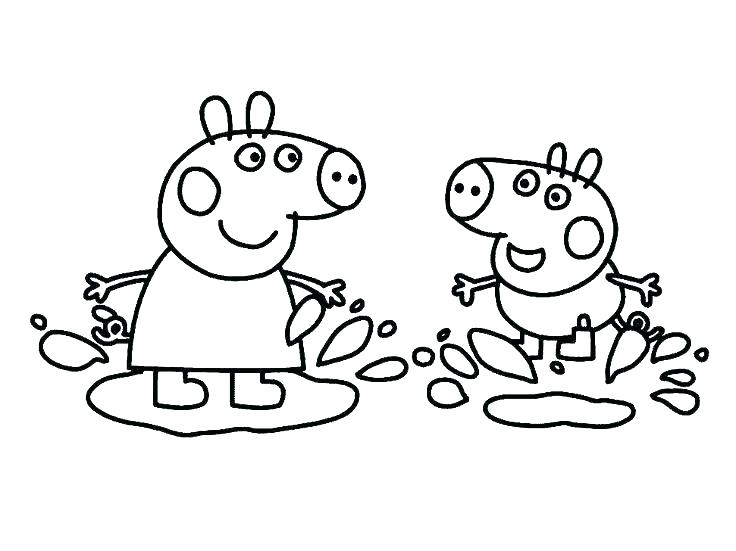 736x551 Peppa Pig Colouring Book Printable Kids Coloring Pig Coloring