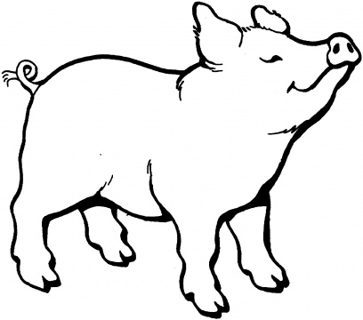 408x360 Pig Smells Something Pictures To Color Cricut