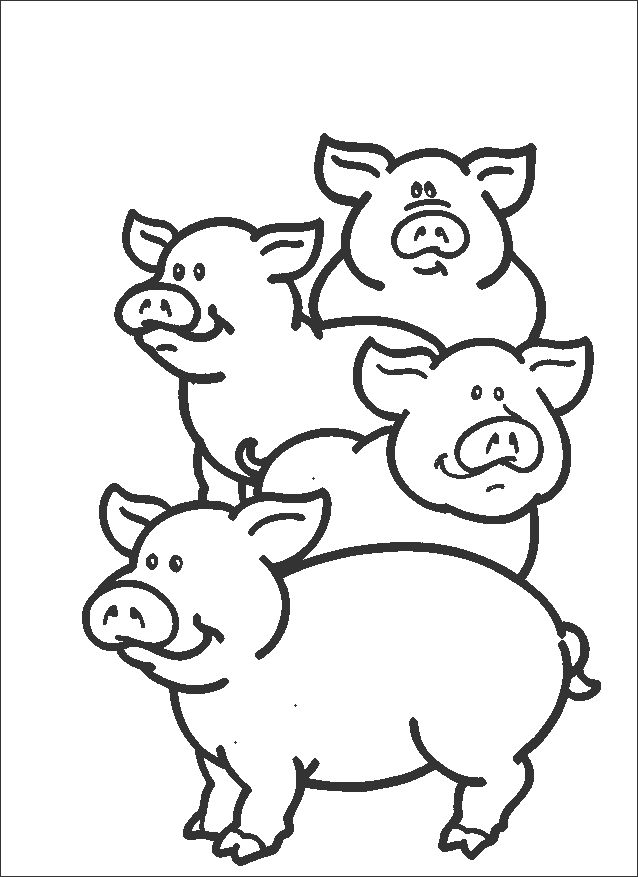 Pig Coloring Pages For Toddlers