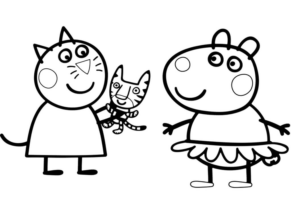 1024x768 New Peppa Pig Coloring Pages Let S Color Free Coloring