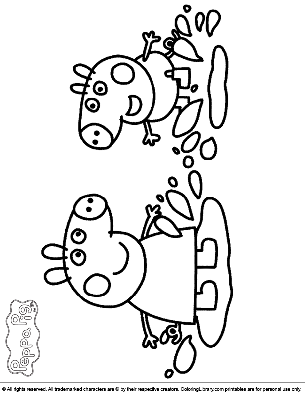 612x792 Peppa Pig Coloring Pages In The Coloring Library Michaila