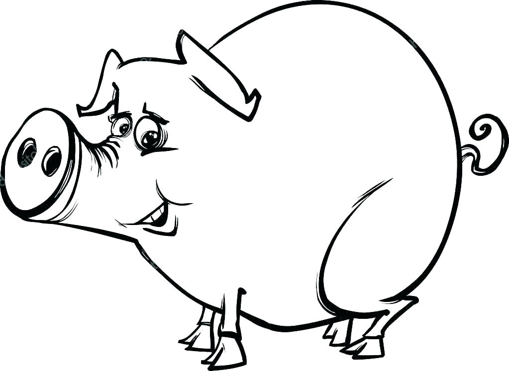 1023x747 Pig Coloring Page How To Draw A Pig Coloring Page Peppa Pig