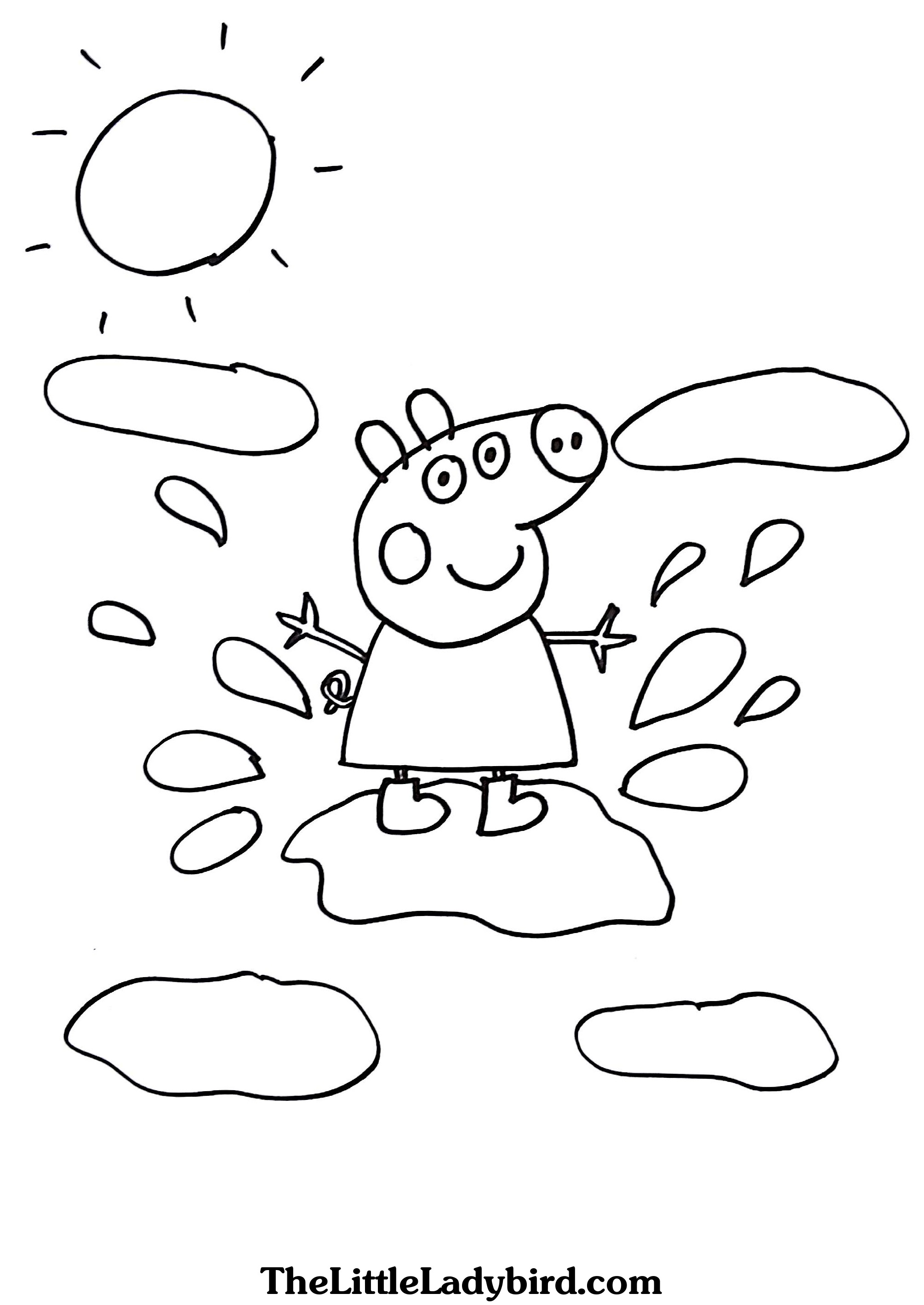 Pig Coloring Pages For Toddlers at GetDrawings.com | Free for ...