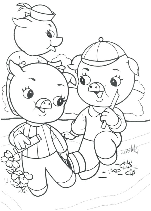 637x892 Three Little Pigs Coloring Pages Little Pigs Coloring Pages Free