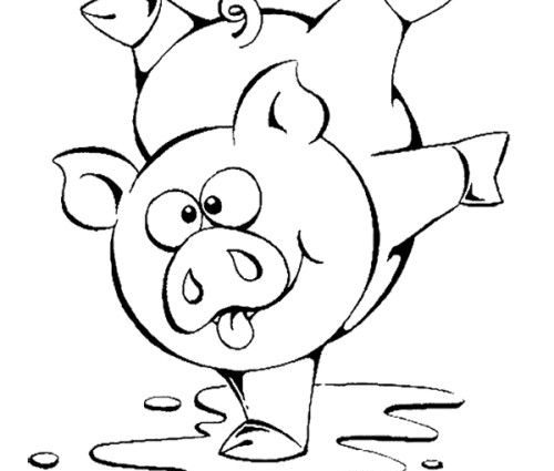 500x425 Pig Coloring Pages Toddlers Cute Pig Coloring Pages