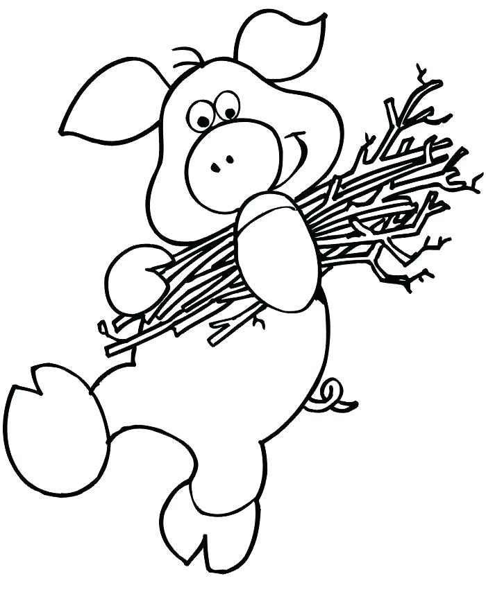 700x854 The Three Little Pigs Coloring Pages