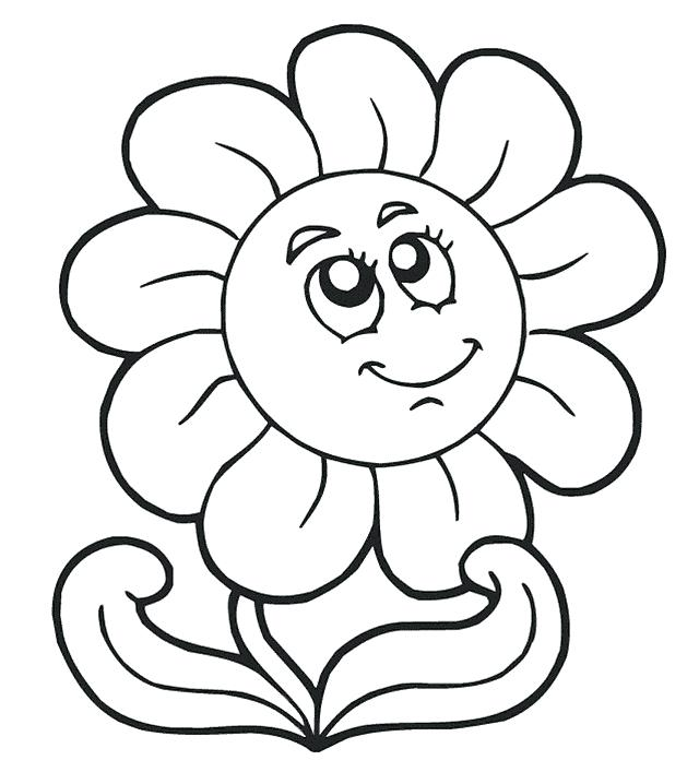 640x707 Color Pages For Preschoolers Simple Coloring Pages Simple Pig