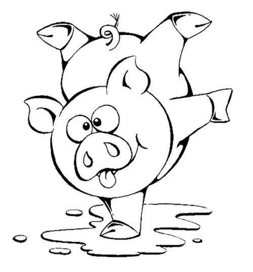 500x537 Cute Pig Coloring Pages For Toddlers Kids Coloring Pages