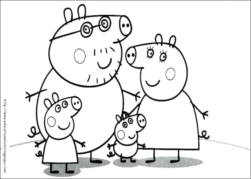 960x685 Get This Pig Coloring Pages Free Printable Cute Coloring Peppa Pig