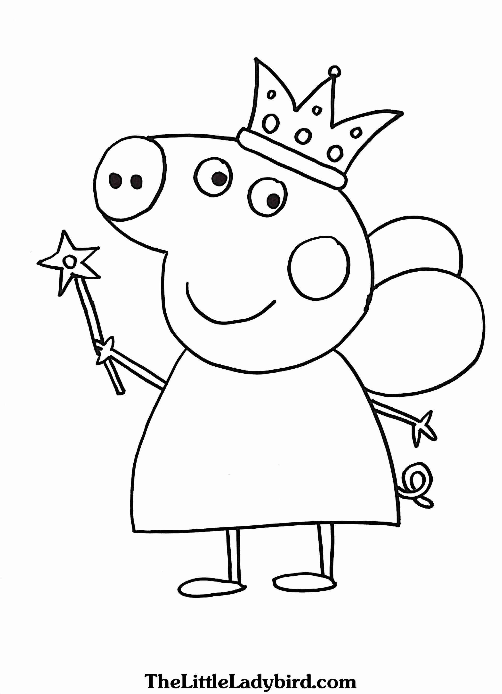 2070x2862 Monumental Peppa Pig Coloring Page Free Pages Com Stuning