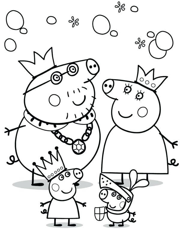 600x764 Peppa Pig Coloring Page Pig Birthday Coloring Pages Peppa Pig