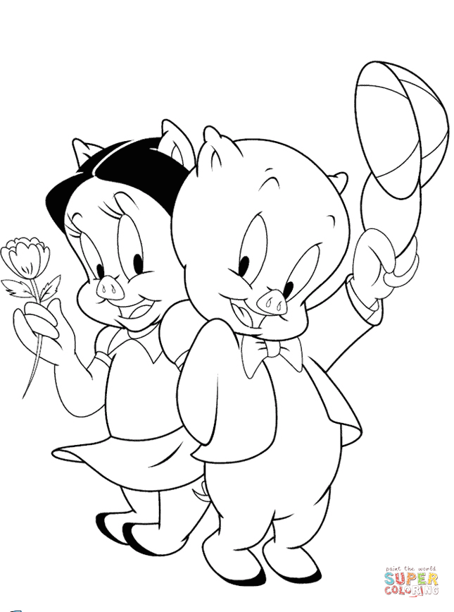645x868 Porky Pig Coloring Pages