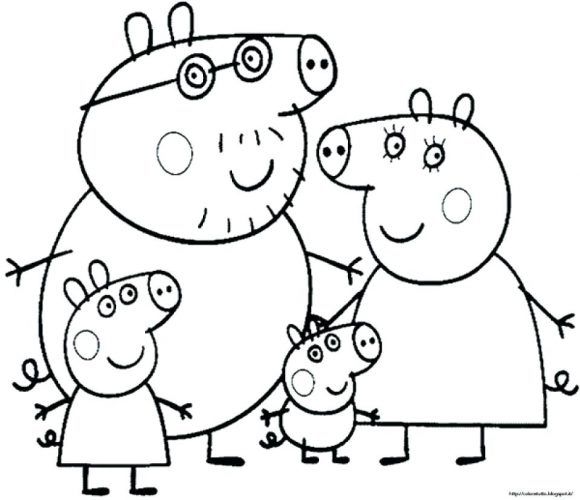 580x500 Coloring Pages Peppa Pig Coloring Page Free Pages To Print
