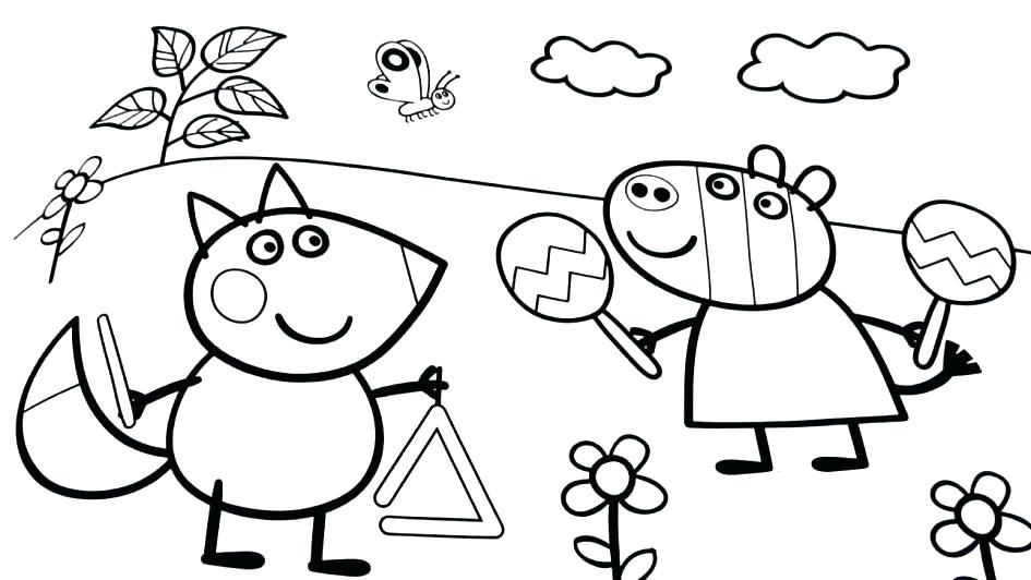 945x532 Elegant Peppa Pig Coloring Pages Free Download For Decor