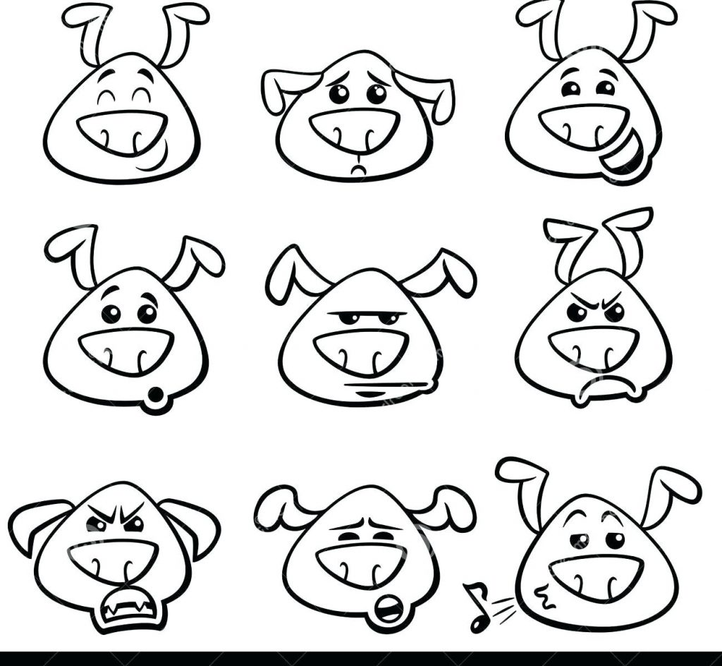 1024x945 Emotions Coloring Pages Adorable Feeling Pig Free For Kids