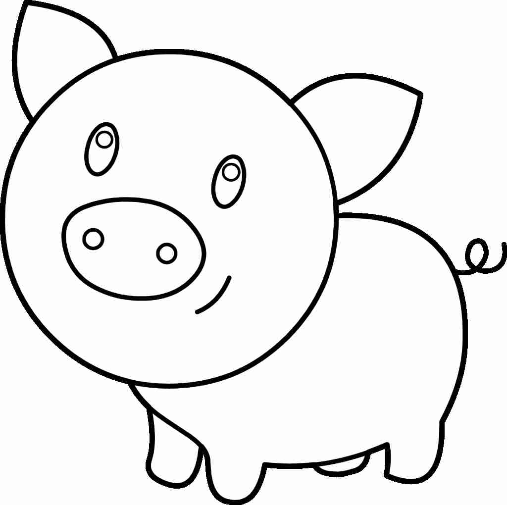 1024x1020 Interesting Picture Of A Pig To Color Coloring Pages Free Best
