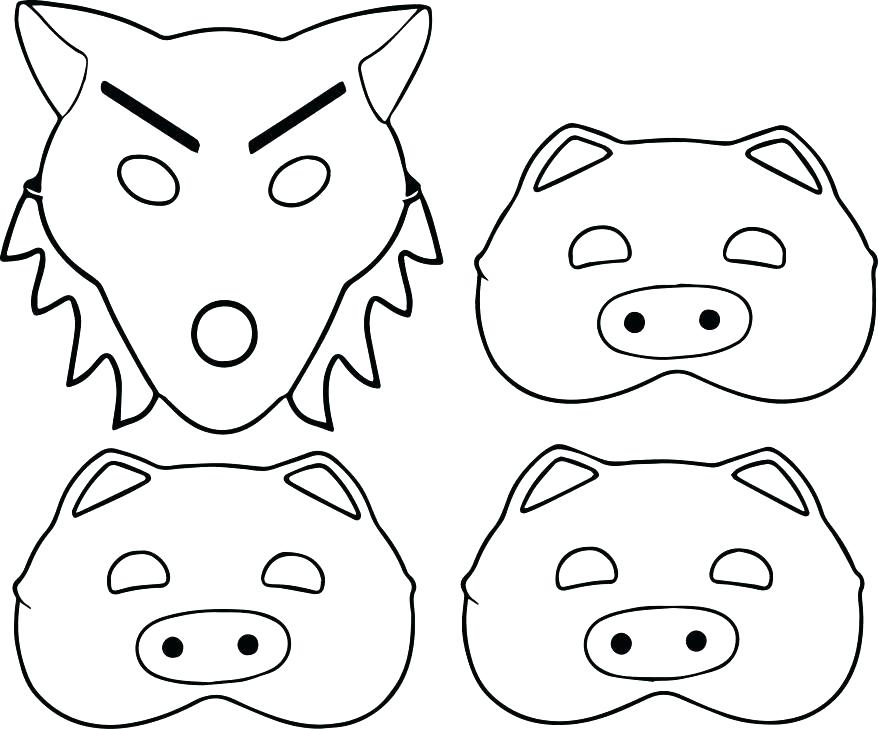 878x729 Pig Face Coloring Pages Printable Coloring The Pig Coloring Pages