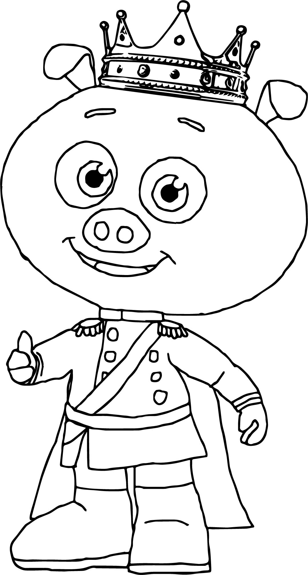 1077x2007 Prince Pig Super Why Coloring Page Wecoloringpage