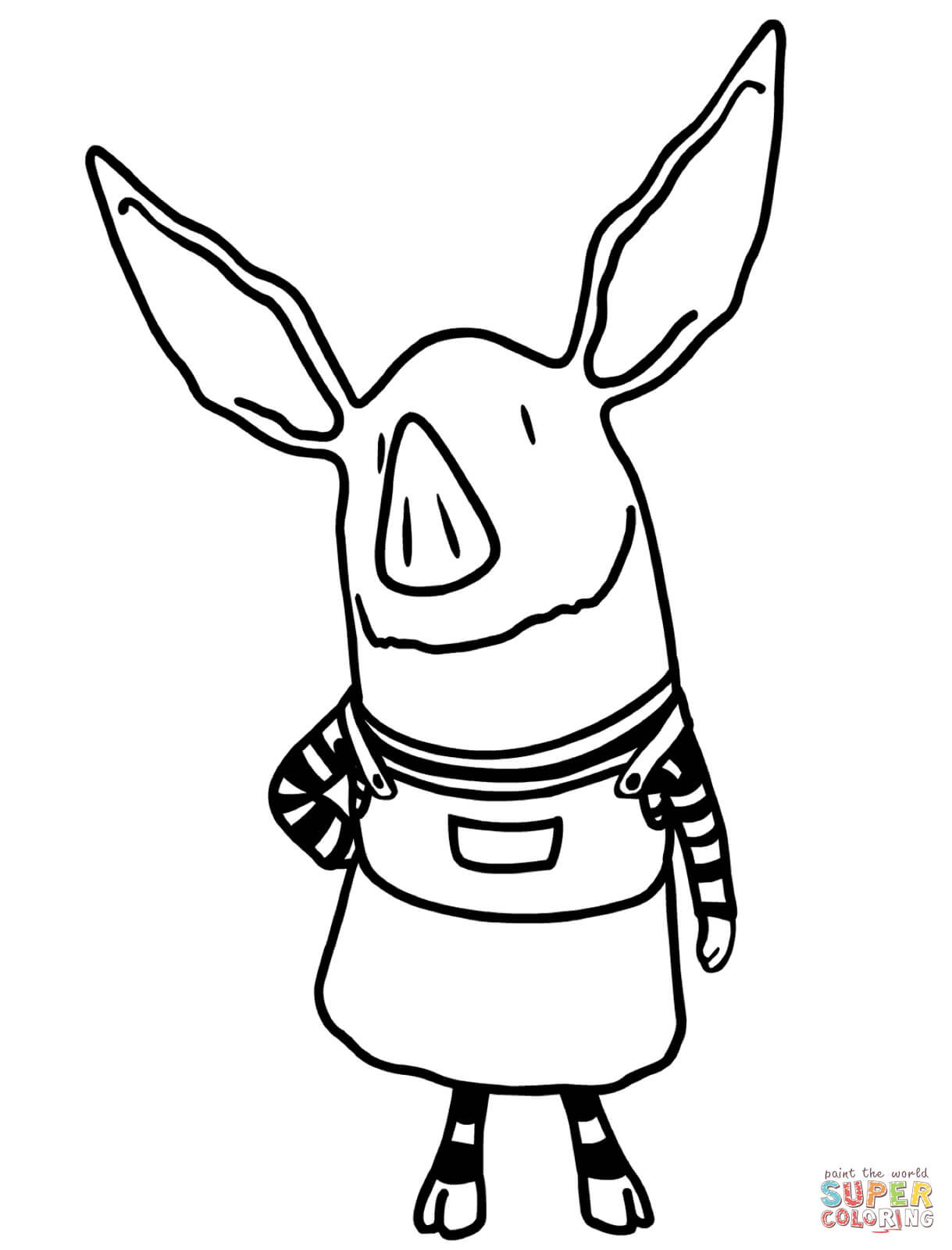 1219x1600 Coloring Pages Pigs Page Of Pig Face In Incredible