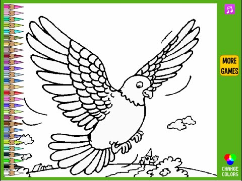 480x360 Pigeon Coloring Pages For Kids