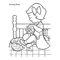 230x230 Piggy Bank Coloring Pages For Your Little Ones