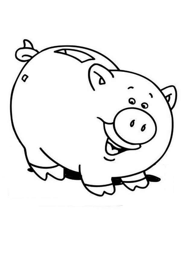 600x850 Piggy Bank Is Laughing Coloring Page Color Luna
